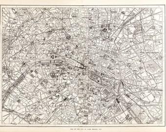 Paris, France - City Map