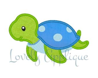 Turtle Design Applique - Instant Download