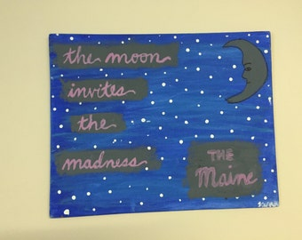 The Maine quote custom canvas painting