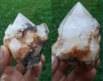 Large quartz crystal.