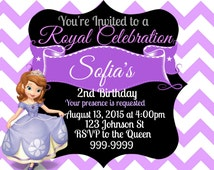 Sophia the First Birthday Invite