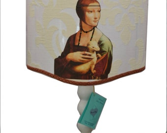 "Handmade lampshade ""Lady with an Ermine"""