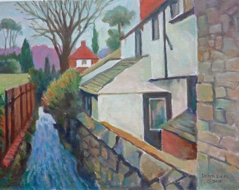 Chipstead Nr Sevenoaks in Kent ~ Original Acrylic painting unframed/wall art/fine art by Derek Lucas