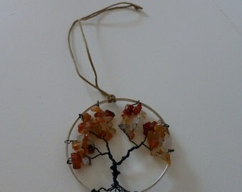 Tree of Life Rearview Pendant - Amber_1