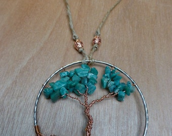 Tree of Life Rearview Pendant - Teal_1
