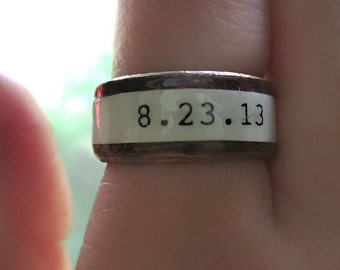 Personalized Paper Anniversary Ring