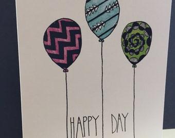 3 balloons Happy Day