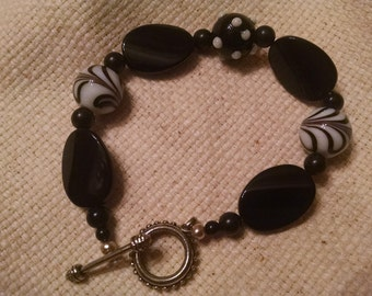 Black and White assorted glass beads