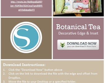 Botanical Tea Decorative Border and Offset for Silhouette