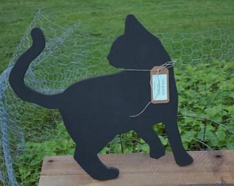 Handmade Chalkboard Cat
