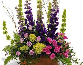 Floral Arrangement, Table Top Silk Arrangement, Silk Arrangement, Silk Centerpiece, Silk Florals, Funeral Silk Flowers, Funeral Arrangements