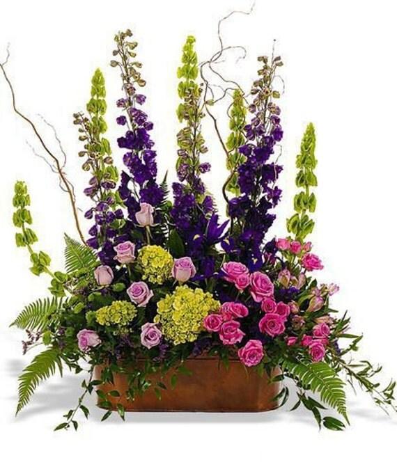 Items similar to floral arrangement table top silk arrangement silk arrangement silk - Best dried flower arrangements a colorful winter ...