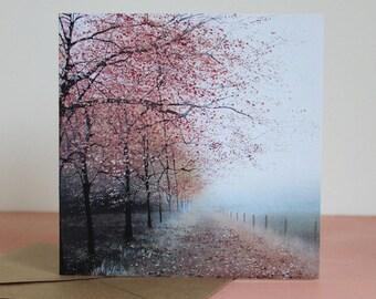 Misty Wings - Fine Art card - Tree card - Woodland