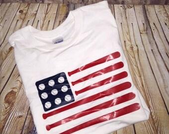 Custom baseball flag shirt