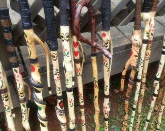 Hand painted Walking sticks and Canes