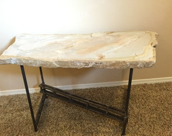 Z-truss folding stone coffee table
