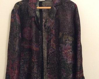 50s vintage floral blazer