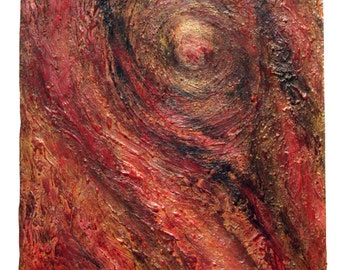 Abstract Textured Art Jupiter's Great Red Spot