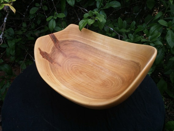 Hand carved silver maple wood bowl by dolanwoodcraft on etsy