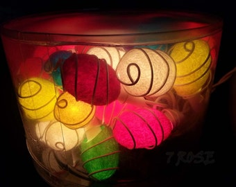 35 Cocoon Mix Color  string lights For Wedding , Party,Valentine'Days