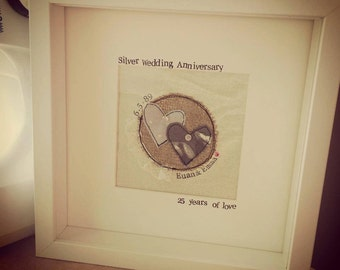 Handmade and Personalised Anniversary Boxed Frame