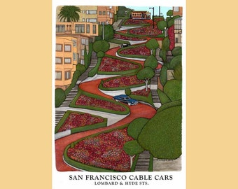 Lombard Street - Cable Car  San Francisco