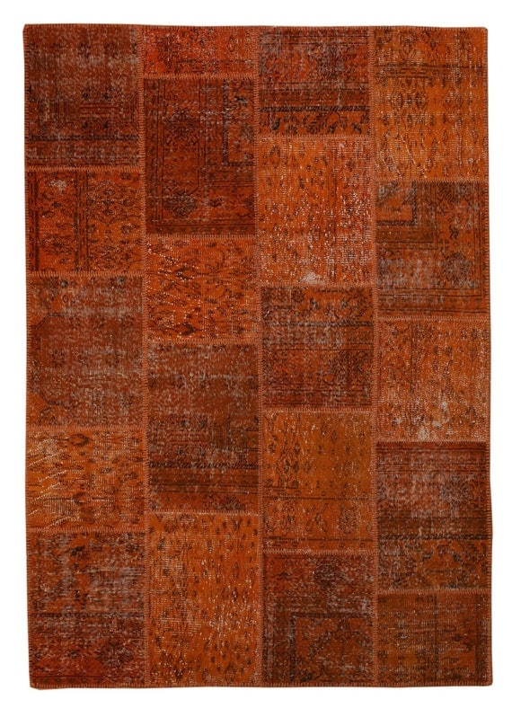8x6 Orange Patchwork Rug Patchwork Carpets By
