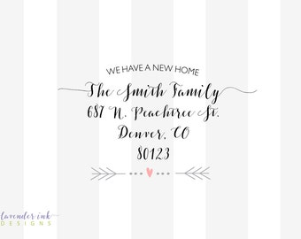 We Have A New Home - Moving Announcement - Printable File