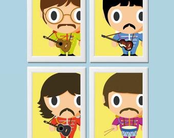 Baby Baby Heroes-The Beatles-Digital Print