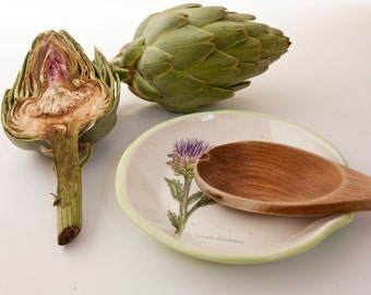 Posacucharas/Spoon Rest artichoke