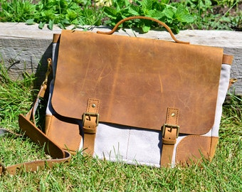 Leather men satchel/bag