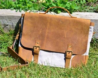 Leather men satchel/bag