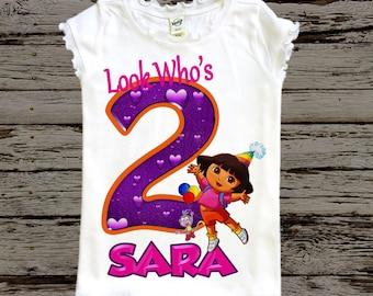 Dora Birthday Shirt - Dora the Explorer Shirt