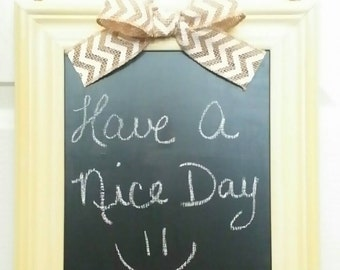 Hand Crafted Wall Decor, write notes on the chalkboard, also can hang things on the handle.