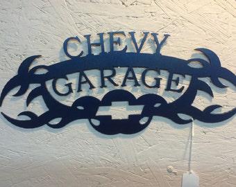 """Chevy Garage, 16.5"""" x 7"""""""