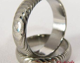 Grandir - Damasteel Rings/Wedding Rings/damascus ring/unique ring/marriage/handcrafted
