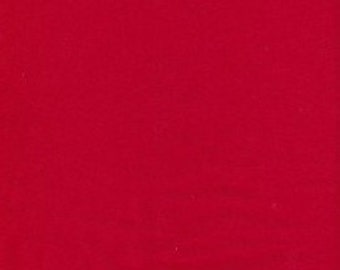 KNIT Fabric: Solid Red Cotton Lycra knit