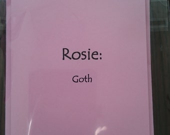 Rosie/Name definition/ card. Pink/Funny.