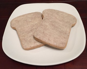 Pretend Felt Food Honey Wheat Bread for Sandwich