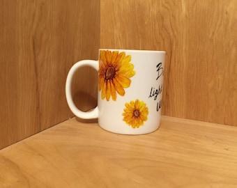 PERSONALIZE Yellow Sunflower Mug