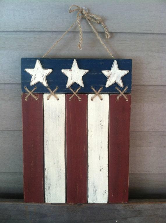 Items Similar To Americana Flag Door Hanger Wall Decor On Etsy