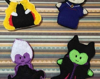 Villian Finger Puppets Set