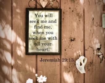 Matted Jeremiah 29:13