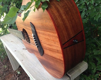 The Mahogany Red, Handcrafted Acoustic Guitar