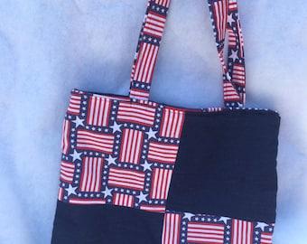 Patriotic  U.S. Flag Tote Bag