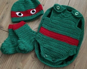 Teenage mutant ninja turtle baby costume