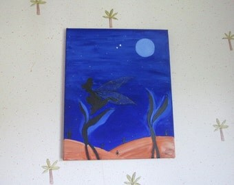 canvas Disney Tinker Bell in the Moonlight