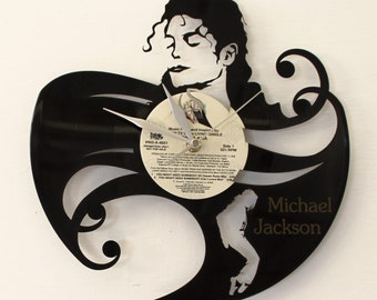 Michael Jackson vinyl clock
