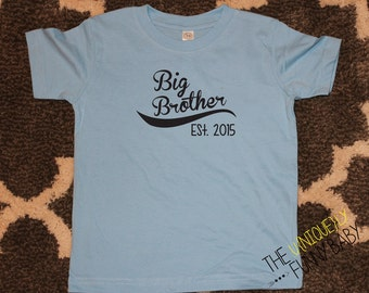 Big Brother Shirt, Big Brother Baseball Shirt, Brother Sibling Shirt, Big Brother T-Shirt, Blue Sibling Shirt- order with or without year
