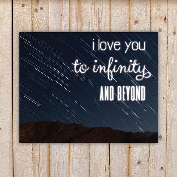 I Love You To Infinity And Beyond, night sky - Wall Art ...